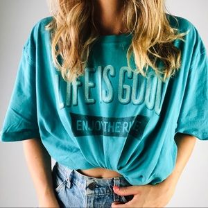 LIFE IS GOOD | Teal Enjoy The Ride Short Sleeve T